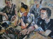 BBC team in Basra (oil on canvas)
