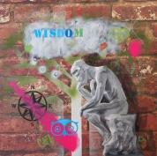 Wisdom (oil and enamel on board)