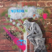 Wisdom (oil and enamel on board)