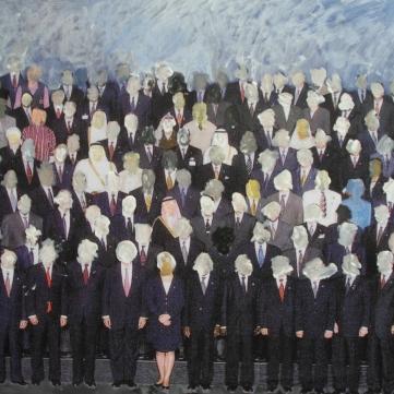 World Leaders (oil on digital print)