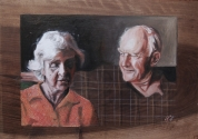 John and Sue (oil on panel)
