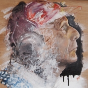 Niki Lauda (oil on wood)