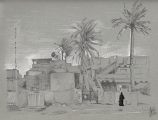 Baghdad (pencil and ink)