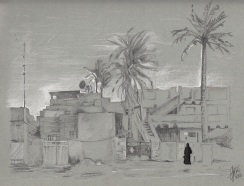 Baghdad (pencil and ink)