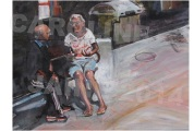 Detail from Calle Campoamor (oil on canvas) SOLD