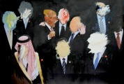 World Leaders SOLD (oil on digital print)
