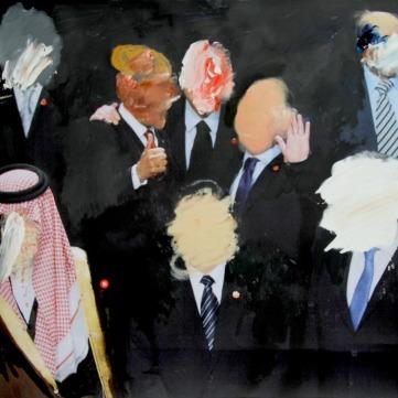 World Leaders SOLD (oil on digital print)