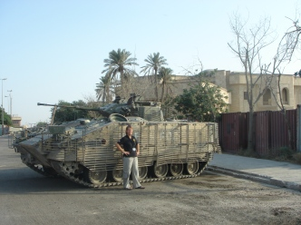 Me and a Warrior, Basra, Iraq, 2006