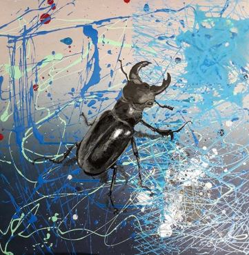 Another Stag (gloss on board)