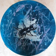 Stag Stool (gloss and spray paint on a stool) SOLD