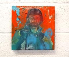 Journalist (gloss on oil on canvas) 30cm x 30cm