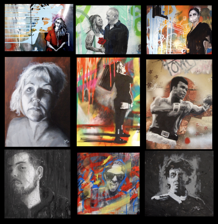 black and white portrait paintings.001